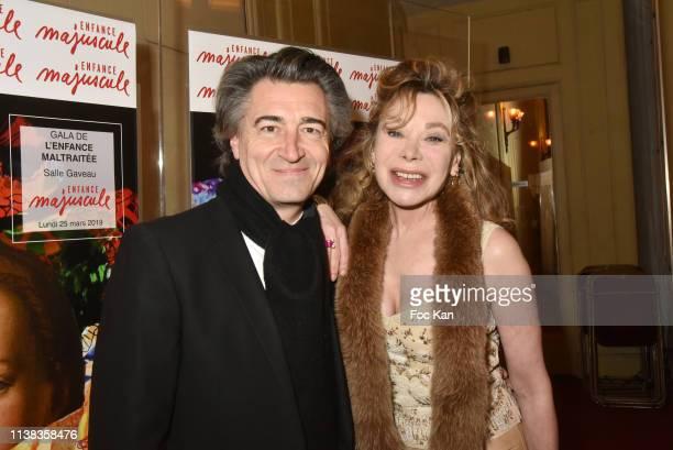 Jean Pierre Jacquin and Grace de Capitani attend Enfance Majuscule Auction Concert Cocktail at Salle Gaveau on March 25 2019 in Paris France