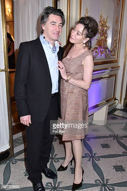 Jean Pierre Jacquin and Grace de Capitani attend the Nobuku Ishikawa Jewellery Exhibition Cocktail at Le Meurice as part of Paris Fashion Week on...
