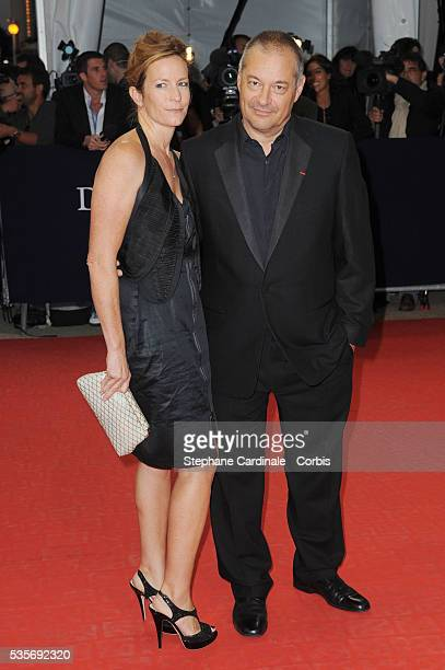 Jean Pierre Jeunet and his wife attend a tribute in honor of Harrison Ford at the 35th Deauville American Film Festival
