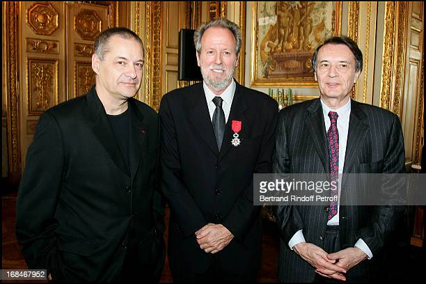 Jean Pierre Jeunet Francis Boespflug knight of the Legion of Honor and Bertrand De Labbey Reception in the halls of the hotel of Marine for the...