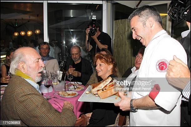 Jean Pierre Marielle Agathe Natanson at Dinner Partie De Campagne For The Week Of Delicatessen Cook School In Paris