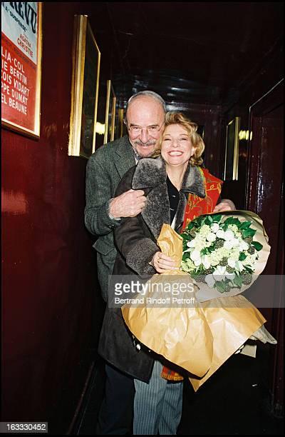Jean Pierre Marielle and Agathe Natanson at theThe Theatre Production Of Le Mari La Femme Et L'Amant In 1998