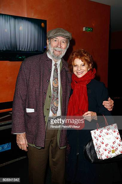 Jean Pierre Marielle and Agathe Natanson attends the Laurent Gerra One Man Show at L'Olympia on December 23 2015 in Paris France
