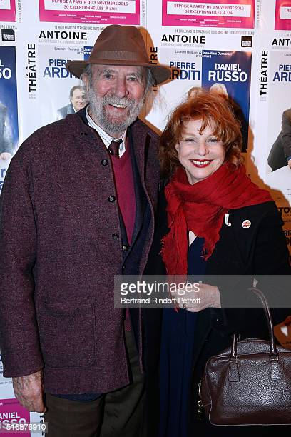 Jean Pierre Marielle and his wife Agathe Natanson attend the L'Etre ou pas Theater play at Theatre Antoine on March 21 2016 in Paris France