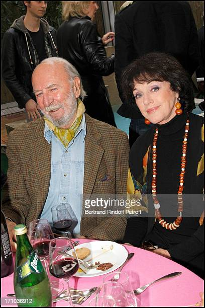 """Jean Pierre Marielle, Anny Duperey at Dinner """"Partie De Campagne"""" For The Week Of Delicatessen Cook School In Paris."""
