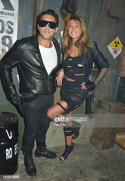 Jean Pierre Martins and Alexandra Genoves attend the 'Chaos 2099' Apocalypse Costume Ball hosted by Les Ambassadeurs In Entrepots Babcock on October...