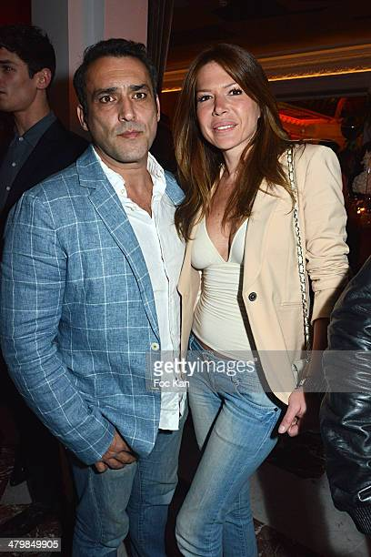 Jean Pierre Martins and Alexandra Genoves attend the 'Neo Burlesque Party' during the Hotel Vernet Opening Cocktail At Hotel Vernet on March 20 2014...