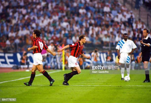 Jean Pierre Papin / Roberto Donadoni Marseille / Milan AC Finale de la Ligue des Champions Munich Photo Alain Gadoffre / Icon Sport