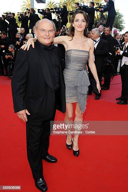Jean Pierre Stevenin and Salome Stevenin attend the premiere of 'The tree' during the 63rd Cannes International Film Festival