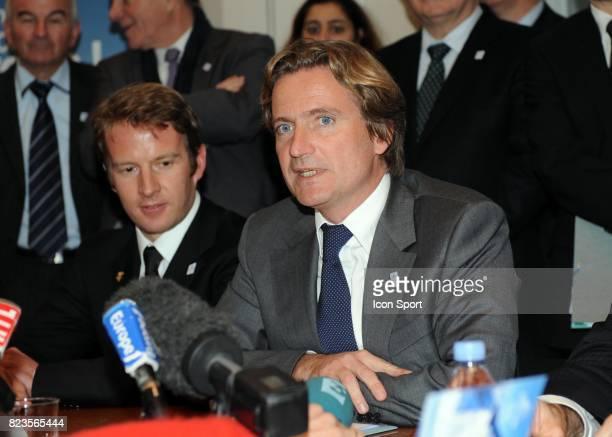 Jean Pierre Vidal / Charles Beigbeder - - Fondation du groupement d'interet public - Nomination de Charles Beigbeder comme president du Comite de...