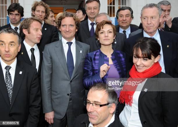 Jean Pierre Vidal / Charles Beigbeder / Chantal JOUANNO / Guy DRUT - - Fondation du groupement d'interet public - Nomination de Charles Beigbeder...