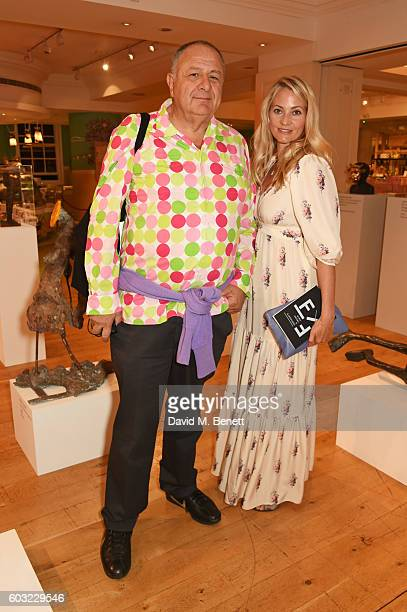Jean Pigozzi and Annika Murjahn attend the launch of Fortnum's X Frank at Fortnum Mason on September 12 2016 in London United Kingdom This free...