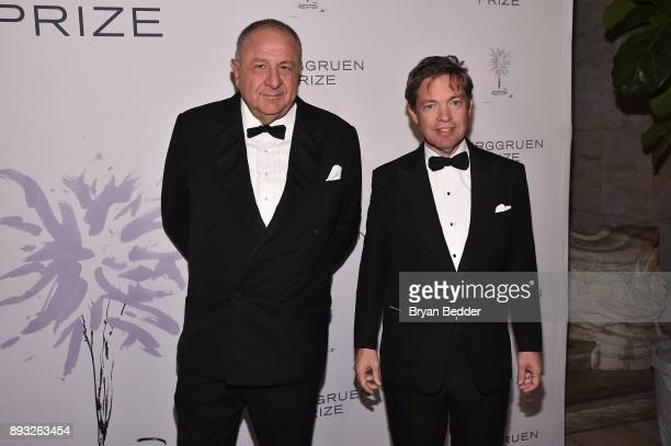 Jean Pigozzi and Chairman of the Berggruen Institute Nicolas Berggruen attend the Berggruen Prize Gala at the New York Public Library on December 14...
