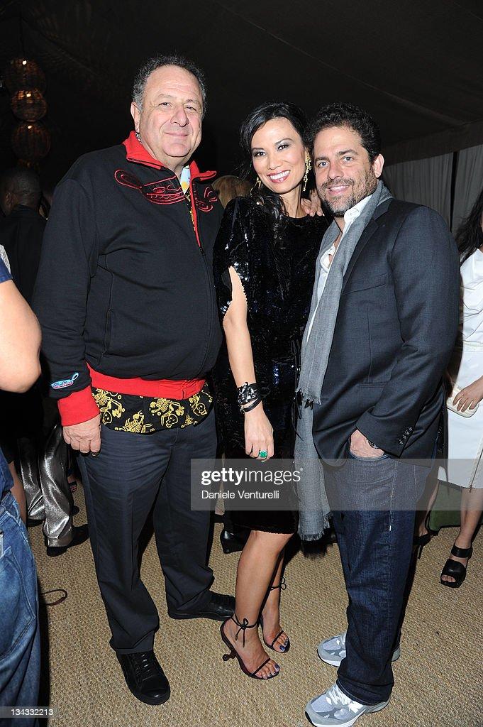 Jean Pigozzi, Wendi Murdoch and Brett Ratner attends the 'Carter Cleveland, Wendi Murdoch And Dasha Zhukova Host Party' at Soho Beach House on November 30, 2011 in Miami Beach, Florida.