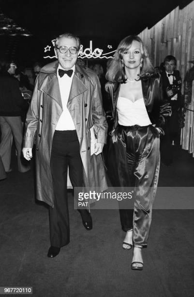 Jean Poiret et Caroline Cellier lors d'un gala au Lido le 25 avril 1979 à Paris France