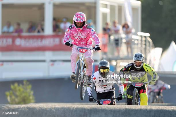 Jean Renaud Ducos de Lahitte of France competes during the UEC BMX European Championships 2017 on July 14 2017 in Bordeaux France