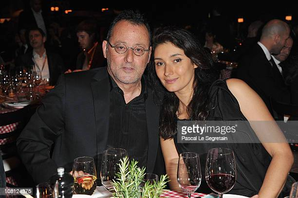 Jean Reno and his wife Zofia Borucka attend a Private Dinner Reception during the IWC launch of the Portofino watch range at the SIHH International...