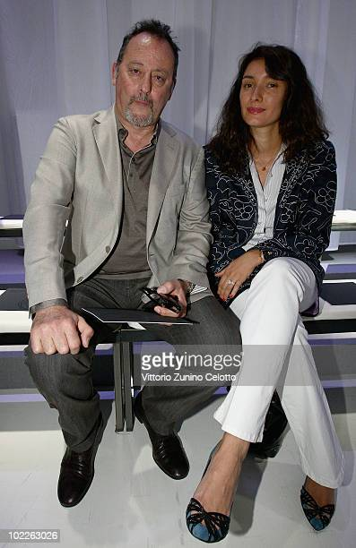 Jean Reno and his wife Zofia Borucka attend the Ermenegildo Zegna Z Zegna Milan Menswear Spring/Summer 2011 show on June 21 2010 in Milan Italy