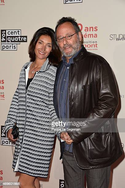 Jean Reno and wife Zofia Borucka attend 120 Ans De Cinema Gaumont Depuis Que Le Cinema Existe' Exhibition Preview at CentQuatre on April 13 2015 in...