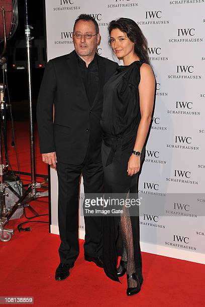 Jean Reno and wife Zofia Borucka attend IWC Schaffhausen an evening in Portofino at Palexpo Hall 1 on January 18 2011 in Geneva Switzerland