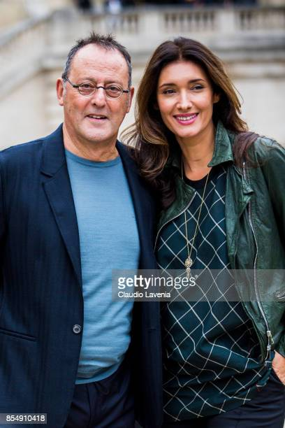 Jean Reno and Zofia Borucka are seen after the Lanvin fashion show at the Grand Palais during paris Fashion week Womenswear SS18 on September 27 2017...