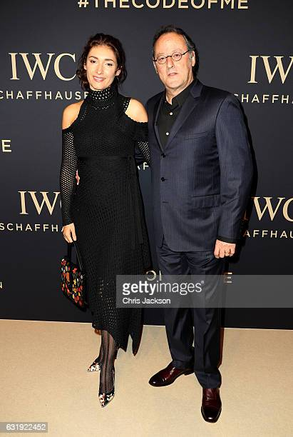 Jean Reno and Zofia Reno attend the IWC Schaffhausen Decoding the Beauty of Time Gala Dinner during the launch of the Da Vinci Novelties from the...