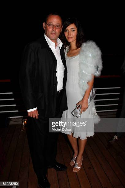 Jean Reno and Zofia Reno attends the Dior Party at Eden Roc Hotel during the 61st International Cannes Film Festival on May 23, 2008 in Cannes,...