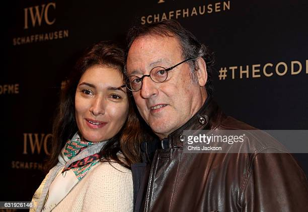 Jean Reno and Zofia Reno visit the IWC booth during the launch of the Da Vinci Novelties from the Swiss luxury watch manufacturer IWC Schaffhausen at...