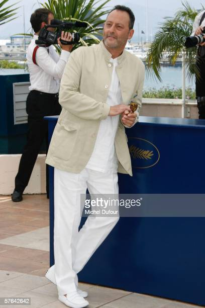 Jean Reno attends a photocall for 'The Da Vinci Code' at the Palais during the 59th International Cannes Film Festival May 17 2006 in Cannes France