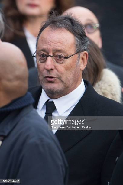 Jean Reno during Johnny Hallyday's Funeral at Eglise De La Madeleine on December 9 2017 in Paris France France pays tribute to Johnny Hallyday the...