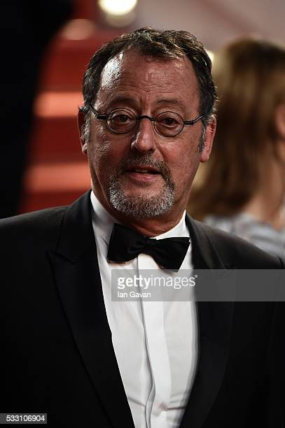 Jean Reno leaves The Last Face Premiere during the 69th annual Cannes Film Festival at the Palais des Festivals on May 20 2016 in Cannes France