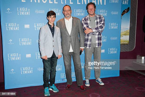 Jean Reno Manuel Camacho and attend the 'L Aigle et L Enfant' Photocall at the cinema Gaumont Capucines on June 19 2016 in Paris France