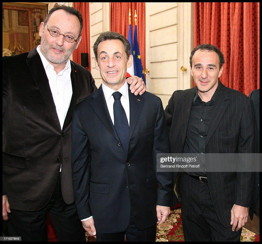 Muriel Robin Is Honoured With The Title Chevalier De La Legion D'Honneur At Palais De L'Elysee In Paris : News Photo