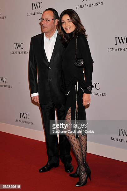 Jean Reno with his wife Zofia Borucka arrive for the Swiss watchmaker IWC party at the Salon International de la Haute Horlogerie at Palexpo in Geneva