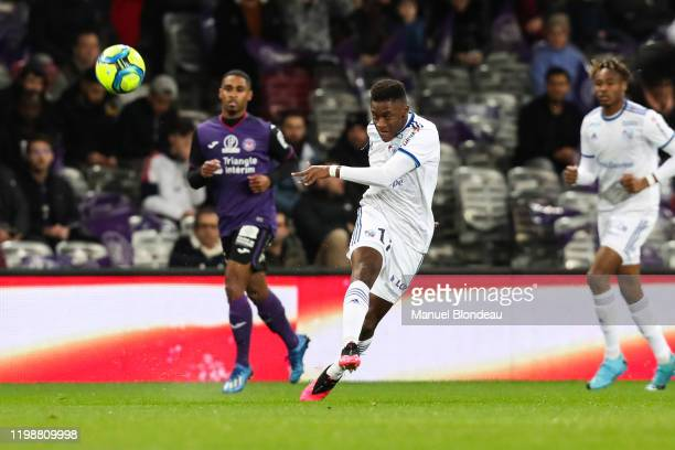 Jean Ricner BELLEGARDE of Strasbourg during the Ligue 1 match between Toulouse and Strasbourg at Stadium Municipal on February 5, 2020 in Toulouse,...