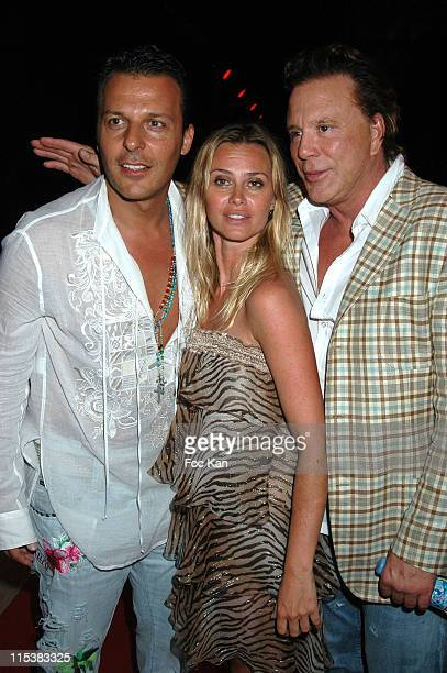 Jean Roch Agathe De La Fontaine and Mickey Rourke