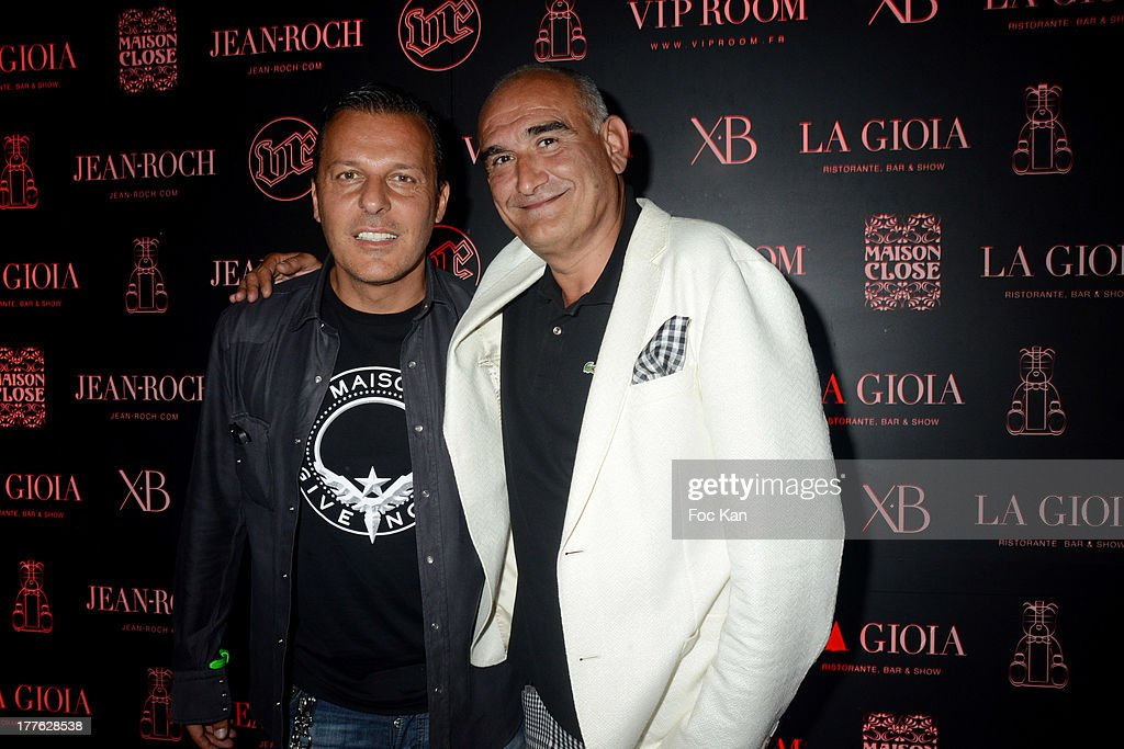 Jean Roch Pedri and Pascal Negre attend the VIP Room on August 24, 2013 in Saint Tropez, France.