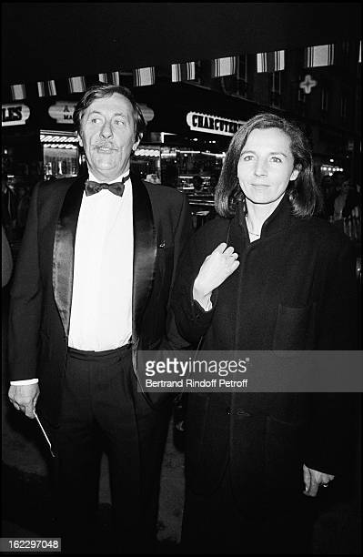 Jean Rochefort and his partner Francoise Vidal at the presentation of Folies Bergeres New Performance 1987