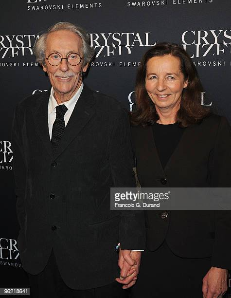 Jean Rochefort and his wife Alexandra attend the 22 Iconic Little Black Dresses by Swarovski at Hotel Pozzo di Borgo on January 27 2010 in Paris...