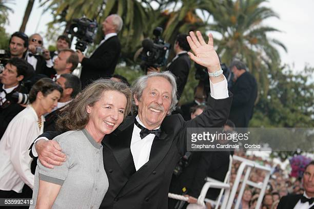 Jean Rochefort and his wife at the premiere of 'Transylvania' during the 59th Cannes Film Festival