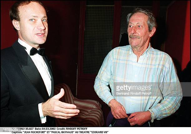 Jean Rochefort and Pascal Raynaud at the Edouard VII theater