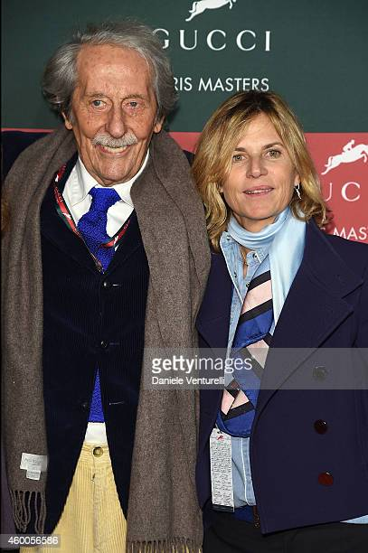 Jean Rochefort and Virginie CouperieEiffel attend the Gucci Paris Masters 2014 at Paris Nord Villepinte on December 6 2014 in Paris France