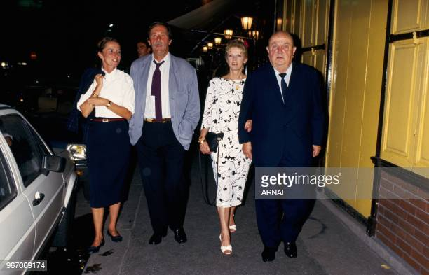 Jean Rochefort and wife Francoise Bernard Blier and wife Annette