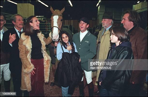 Jean Rochefort Carole Bouquet Philippe Noiret Gerard Depardieu in Paris France on December 01 2001
