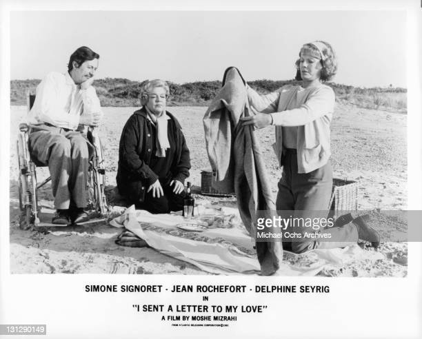 a letter to my love signoret jean rochefort photos et images de collection getty images 27096 | jean rochefort simone signoret and delphine seyrig having a picnic on picture id131290149?s=612x612