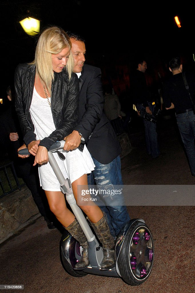 Jean Roch's girlfriend Alec and Jean Roch during Segway Saint Tropez Street Launch at Around The VIP Room in Saint Tropez, France.