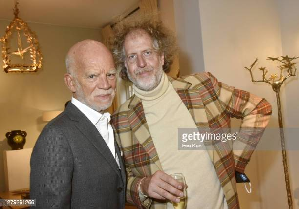 """Jean Ruffin and Fabrice de Rohan Chabot attend the """"Rendez Vous Saint Germain Des Pres"""" : Press Preview With Joy de Rohan Chabot And Georges Jouve In..."""