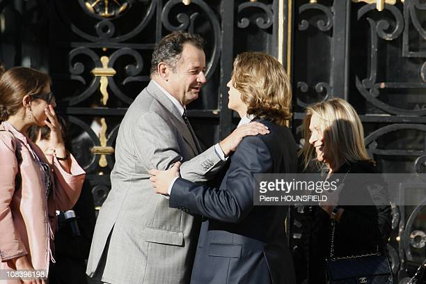 Jean Sarkozy and his mother arrive at the city hall in NeuillysurSeine France on September 10th 2008