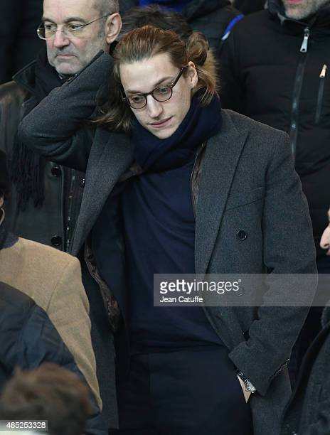 Jean Sarkozy attends the French Cup match between Paris SaintGermain FC and AS Monaco FC at Parc des Princes stadium on March 4 2015 in Paris France