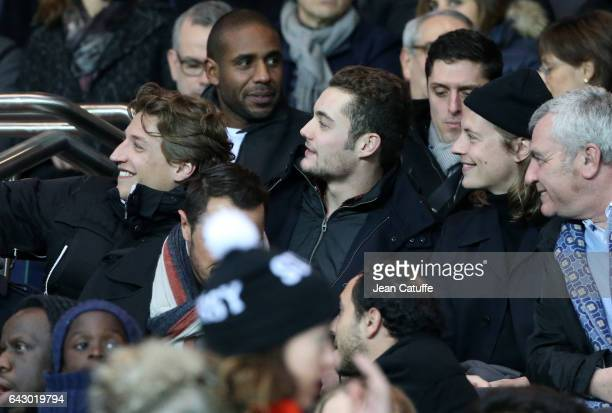 Jean Sarkozy Louis Sarkozy Pierre Sarkozy attend the French Ligue 1 match between Paris SaintGermain and Toulouse FC at Parc des Princes stadium on...
